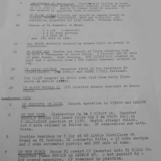 A war diary is a daily account of a regiment's or Brigade's activity during a tour of duty. This is a sample page fromn the Royal Anglin Regiment's war diary for 1972.